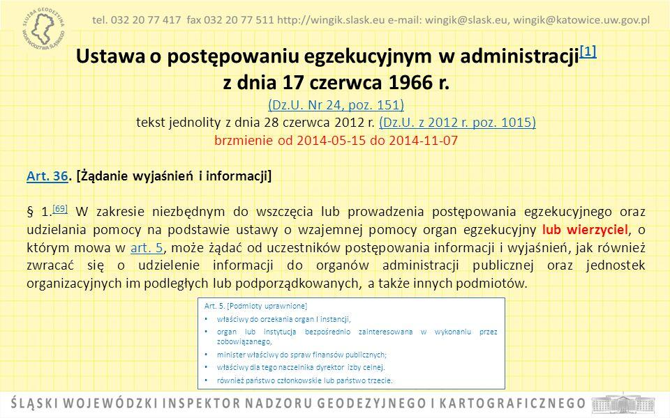 Ustawa o postępowaniu egzekucyjnym w administracji[1]